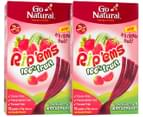 2 x Go Natural Rip'ems Strawberry & Watermelon 180g 10pk 5
