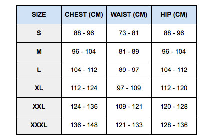 Nike pro combat compression short size chart size