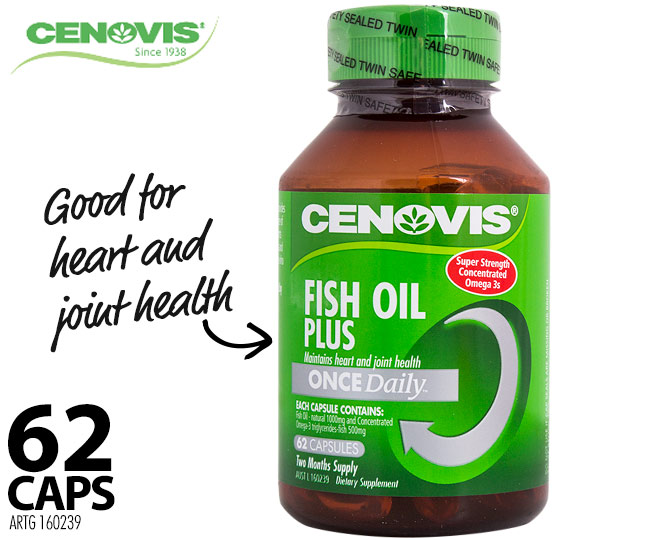 Cenovis once daily fish oil plus 62 for Daily fish oil