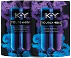 2 x KY Yours + Mine Lubricants 88mL 3