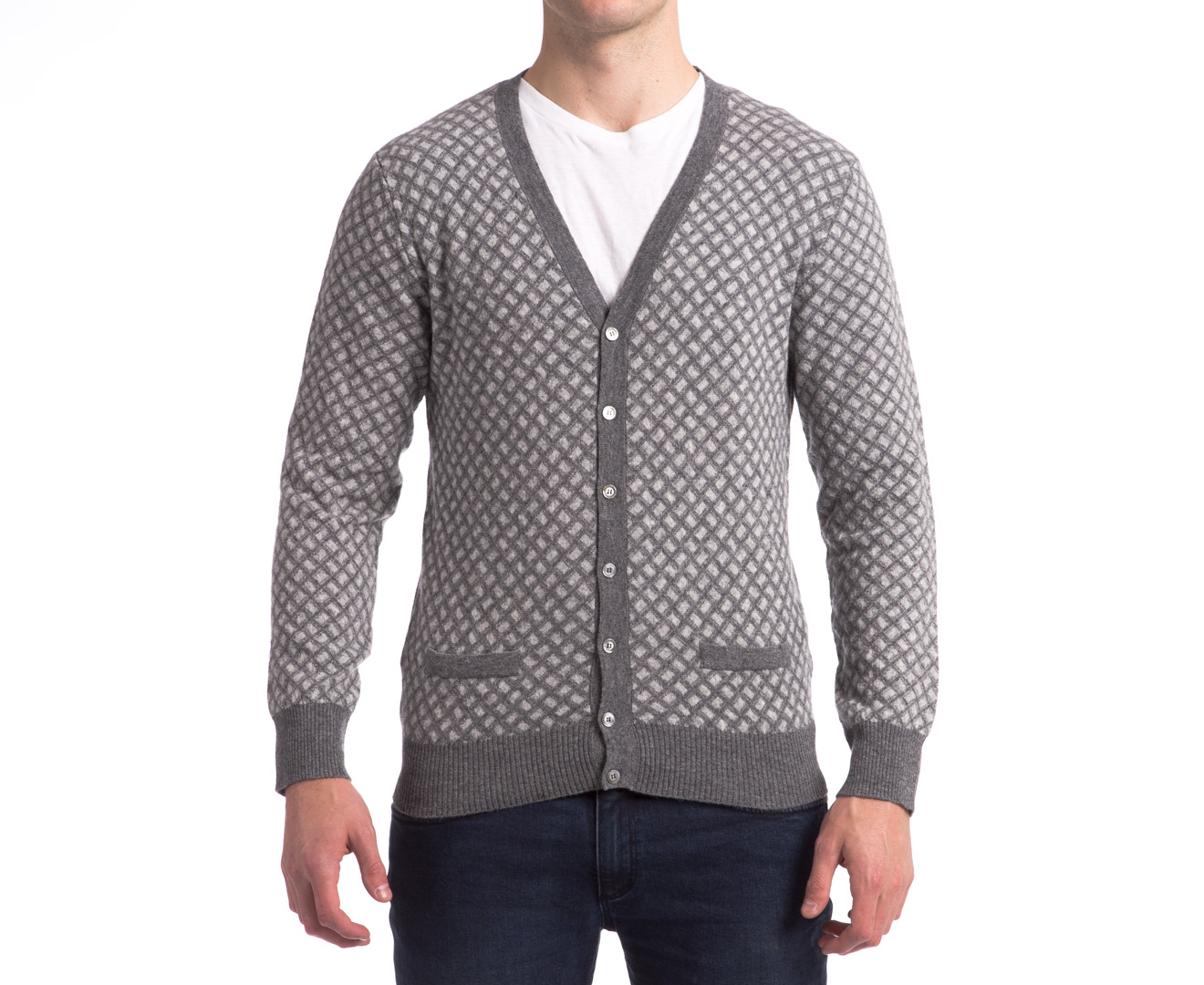 CatchOfTheDay.com.au  United Colors of Benetton Men39;s Cardigan  Grey