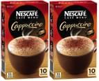 2 x Nescafé Cappuccino Sachets 132g 10pk 5