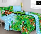 Kooky by Kas Jungle Safari Single Bed Quilt Cover Set 1