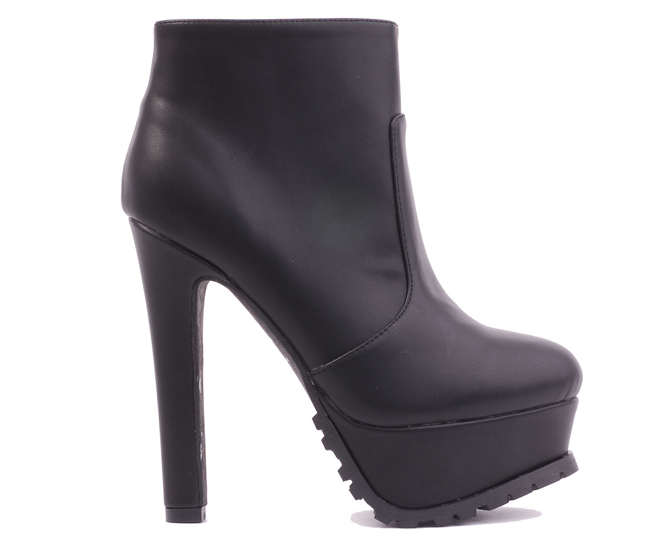 Verali Lorraine Ankle Boot - Black Smooth
