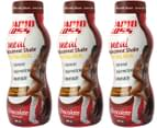3 x Rapid Loss Replacement Meal Shakes Chocolate 290mL 1