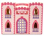 Melissa & Doug Fold & Go Wooden Princess Castle - Pink 3
