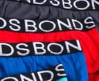 Bonds Senior Boys' Brief 4-Pack - Grey/Blue/Light Blue/Red 4