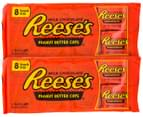 2 x Reese's Peanut Butter Cups Snack Size 8pk 1