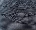NNT Women's Sleeveless Frill Top - Navy/White 5