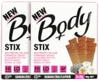 2 x BSc Body Protein Stix Banana Chia 90g 6pk 4