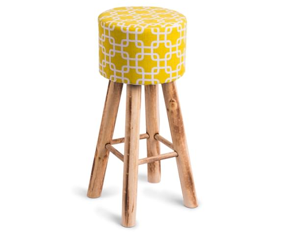 Catchoftheday Com Au Wooden Bar Stool With Fabric Chain