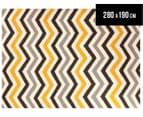 Hand Woven Indian Dhurrie 280x190cm Reversible Rug - Yellow 1