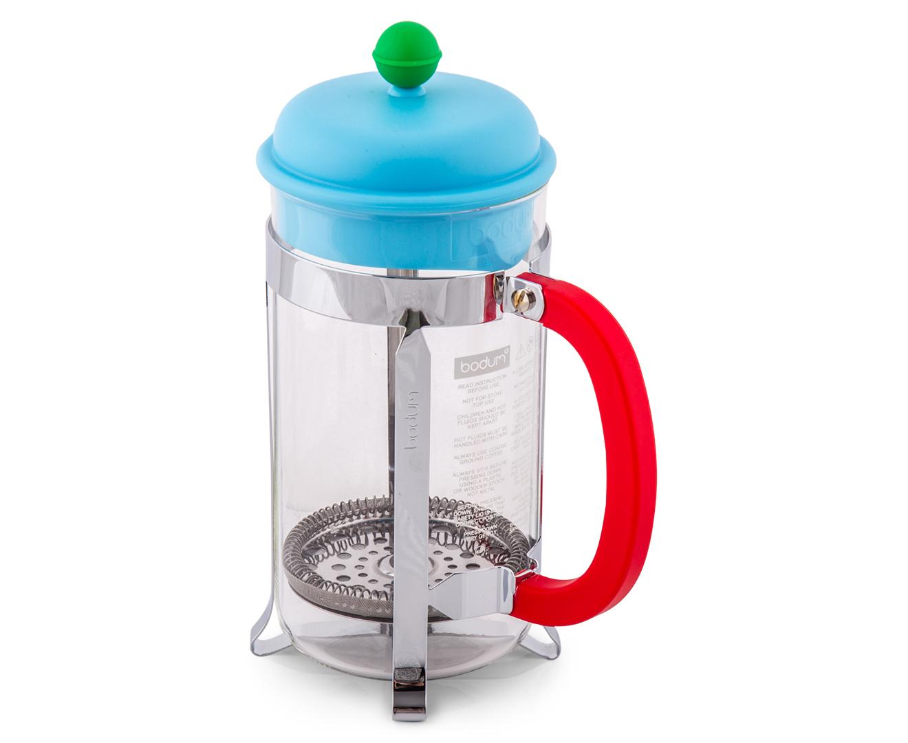 CatchOfTheDay.com.au BODUM 1L Coffee Maker - Green/Light Blue/Red