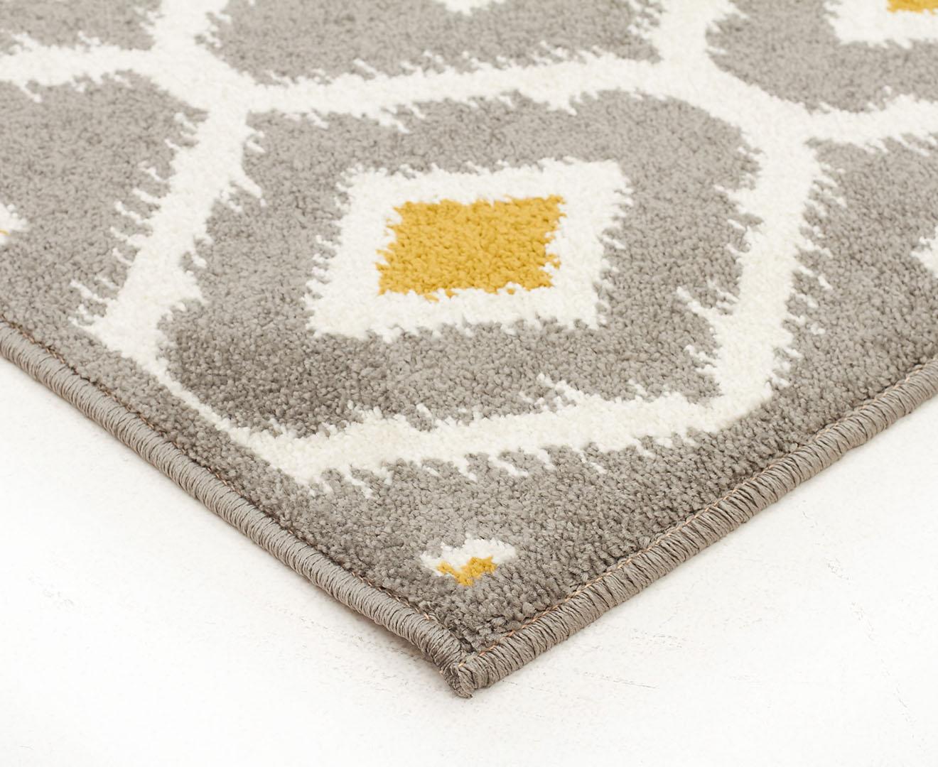 maldives 290x200cm new geometry rug grey yellow white. Black Bedroom Furniture Sets. Home Design Ideas