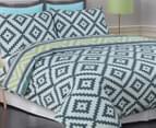 Apartmento Cisco Double Quilt Cover Set - Blue/Grey 3