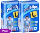 2 x Huggies Pull-Ups Training Pants Size 4 Boys 17kg+ 13pk 1