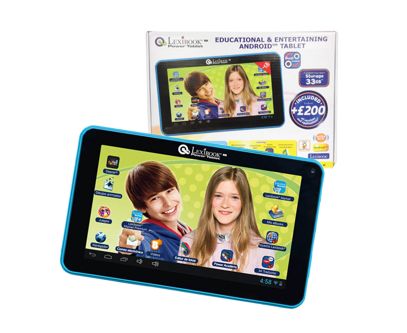 "CatchOfTheDay.com.au | Lexibook Educational & Entertaining 7"" Tablet"