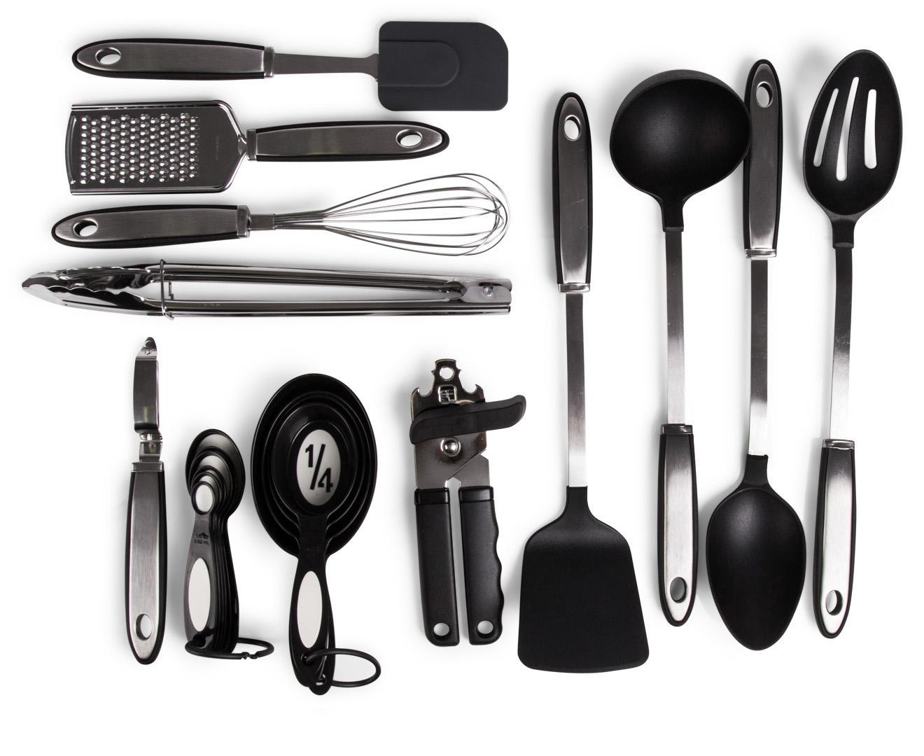Tuffsteel 20 piece kitchen utensil set for Kitchen set ebay
