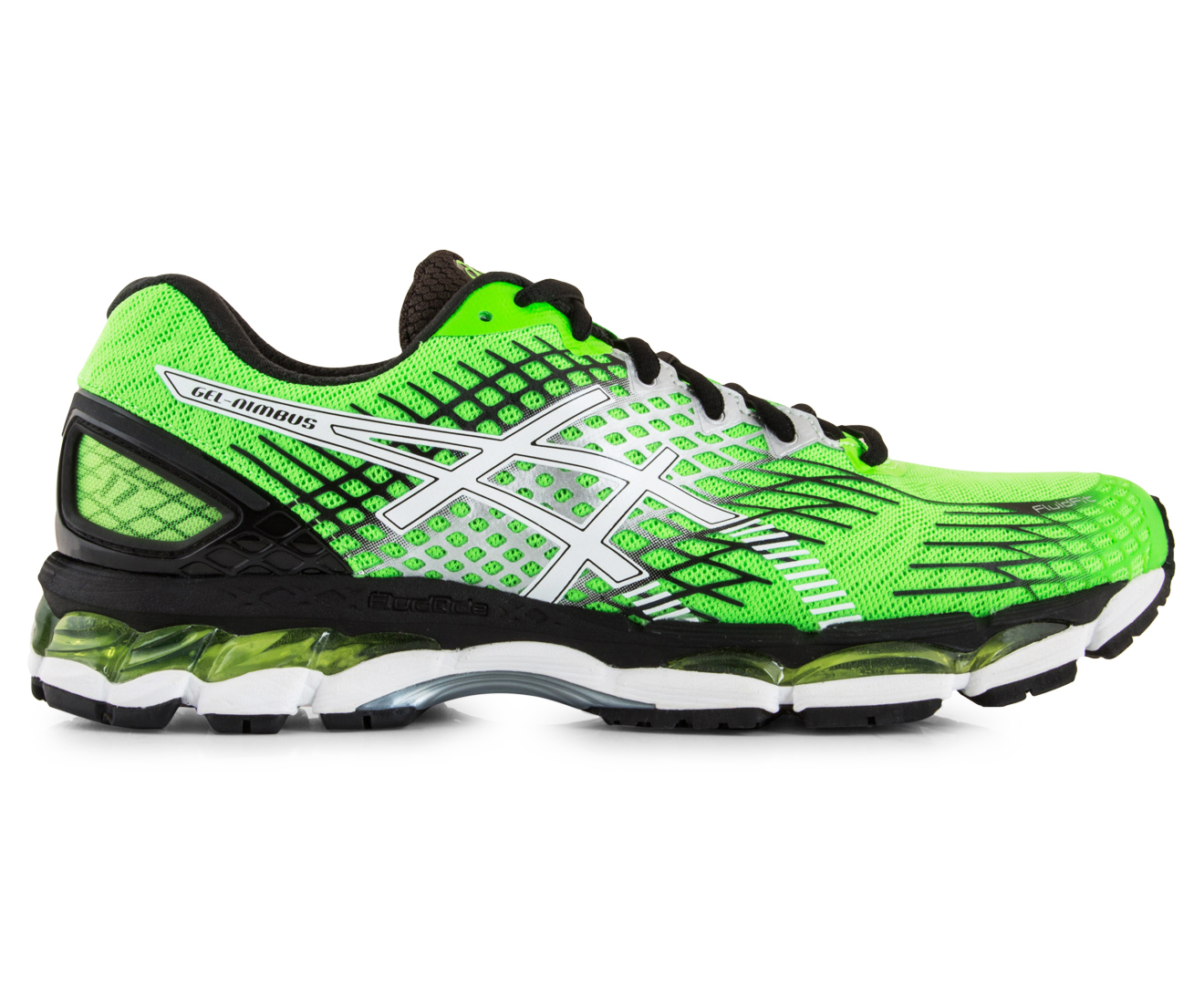 asics men 39 s gel nimbus 17 green white black. Black Bedroom Furniture Sets. Home Design Ideas