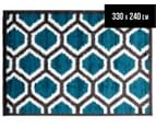 Rug Connection Aztec Honeycomb 330 x 240cm Rug - Blue 1