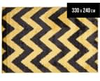 Rug Connection Metro Chevron 330 x 240cm Rug - Yellow 1