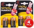 2 x Duracell Simply C 1.5V Alkaline Battery 2pk 1