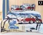 Retro Home Summer Queen Bed Quilt Cover Set - Marine 1