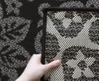 Laguna Collection 270 x 180cm Floral Rug - Black / Charcoal 4