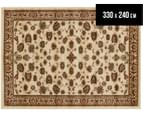 Traditional Floral Border 330 x 240cm Rug - Ivory 1