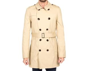 Ben Sherman Men's Classic Trench Coat - Toffee