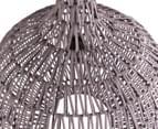 Round Contemporary 44x52cm Rattan Lamp - Dark Grey 3