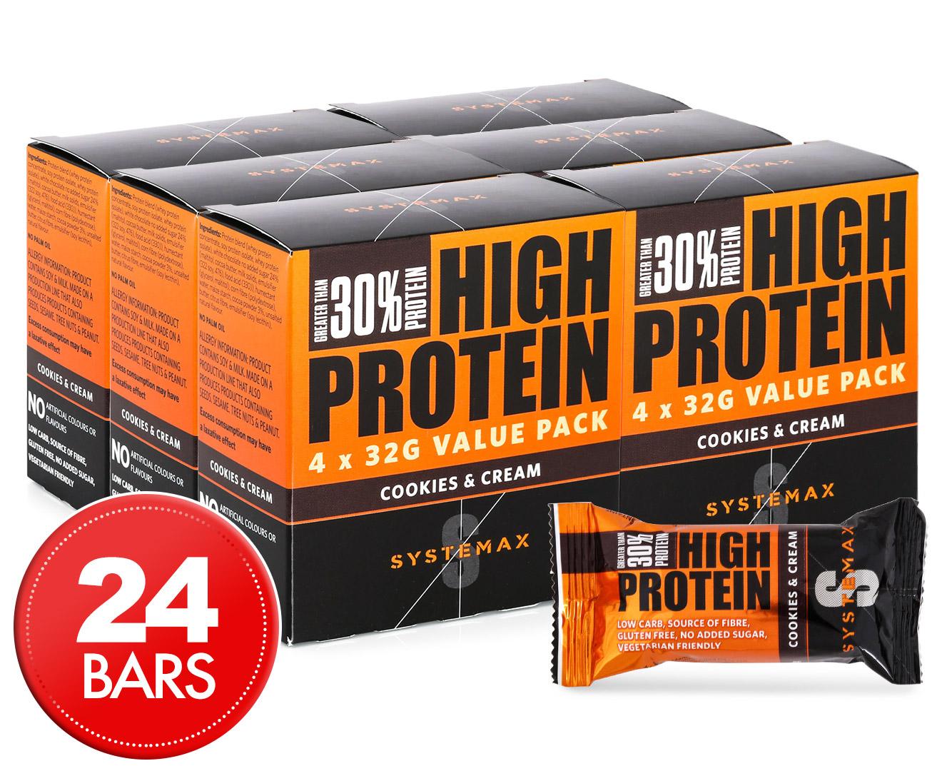 GroceryRun.com.au   24 x Systemax High Protein Bars ...
