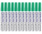 Penline Aluminium Bullet Point Whiteboard Marker 12-Pack - Green 1