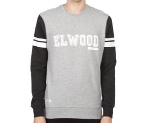 Elwood Men's Bassett Crew Jumper - Grey Marle