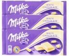 3 x Milka White Chocolate 100g 1