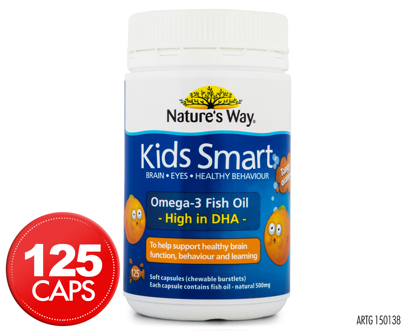 Nature 39 s way kids smart omega 3 for How much fish oil a day