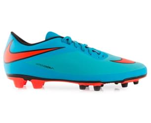 Nike Men's Hypervenom Phade FG Football Boot - Clearwater/Crimson/Black