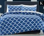 Belmondo Home Arabesque King Quilt Cover Set - Navy 1