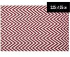 Kesa 225x155cm Chevron Rug - Red 1