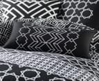 2 x Mod By Linen House 30x60cm Ravi Cushion Cover - Black/White 2