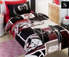 Kids' Star Wars Movie SW7 Patch Single Quilt Cover Set - Black/Red 1