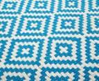 Diamond 200x140cm Hand-Loomed Rug - Blue/White 5