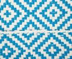 Diamond 200x140cm Hand-Loomed Rug - Blue/White 6