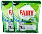 2 x Fairy All In One Ultra Power Dishwasher Tablets 90pk 1