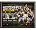 West Coast Eagles 'Defensive Dynasty' 850x650mm Signed Lithograph 1
