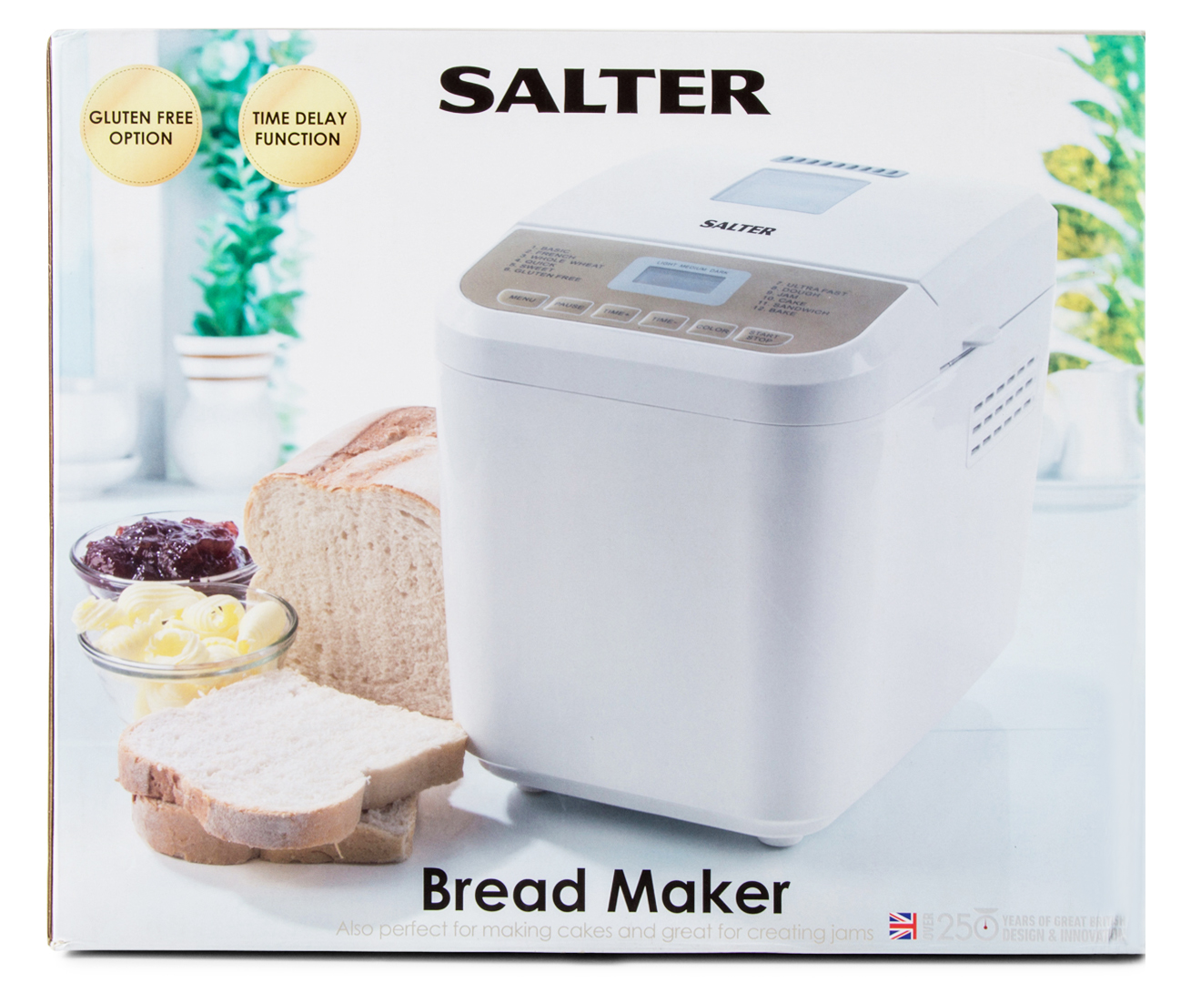 Salter Bread Maker w/ Gluten Free Option - White | eBay