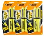 3 x BiC Brite Liner XL Grip Fluorescent Highlighter 2-Pack - Yellow 1