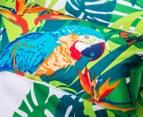 Retro Home Tropica Queen Quilt Cover Set - Green 6