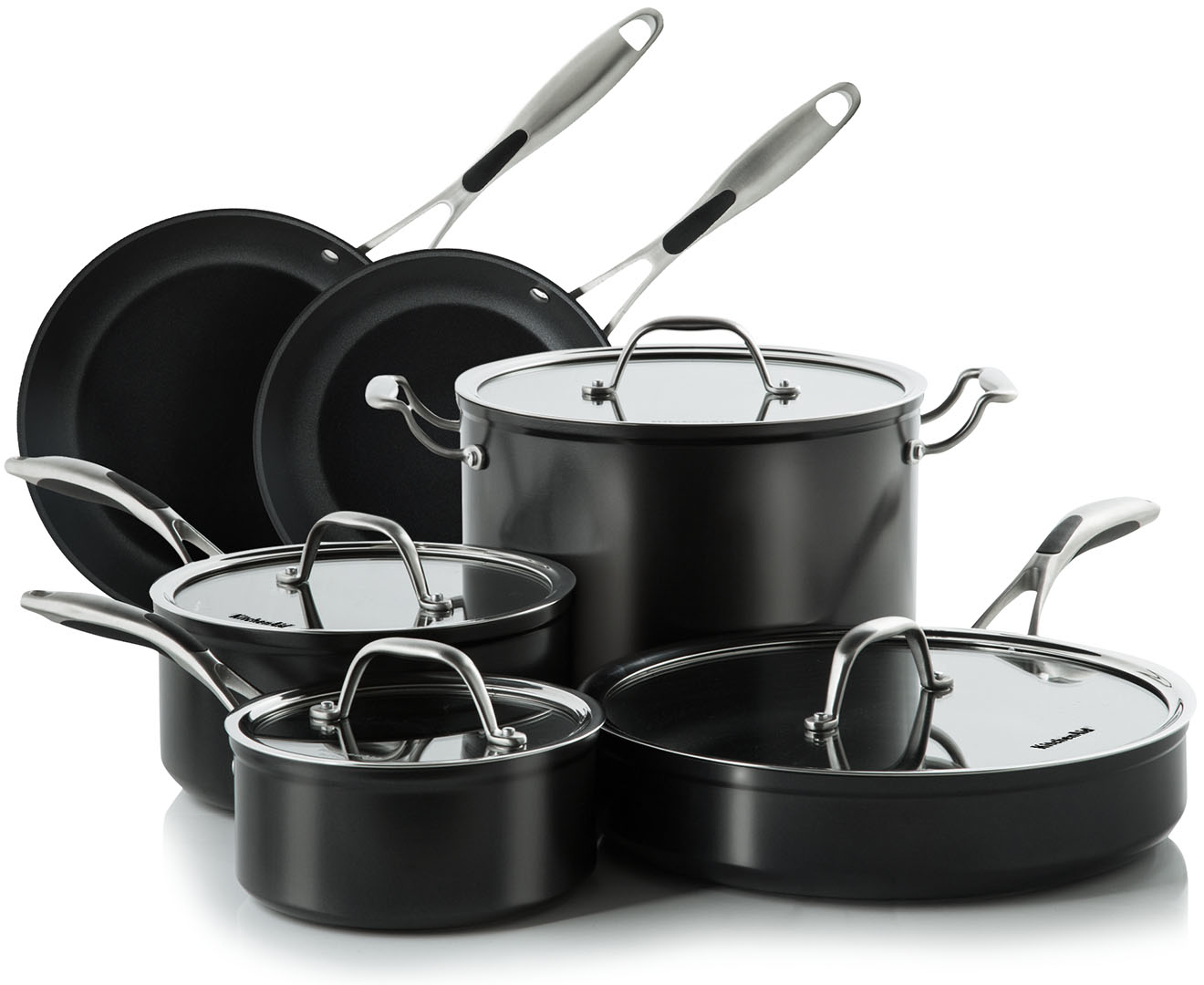 Kitchenaid hard anodized non stick 10 piece cookware set - Kitchen aid pan set ...