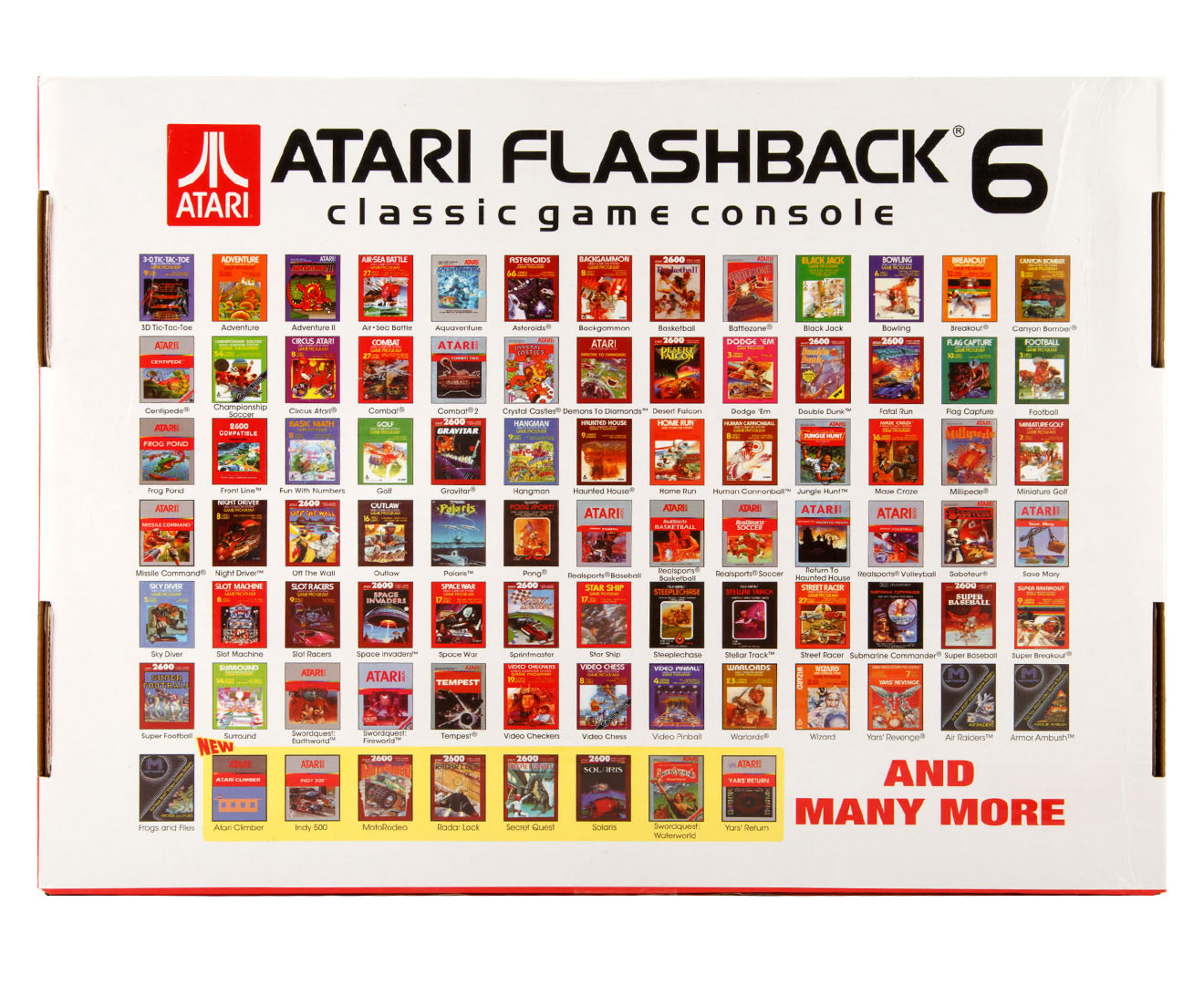 Atari flashback 6 classic game console 100 built in - Atari flashback classic game console game list ...